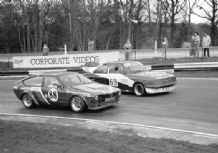 "Alfa GTV & Ford Escort Mk2 Thundersaloon Brands Hatch 1987 7x5"" photo"